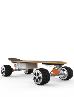 M3 electric skateboard equipped with 2.4G remote control, four bigger tires with stronger grip ability, DIY, strengthened shock absorption and magnetic levitation motor.